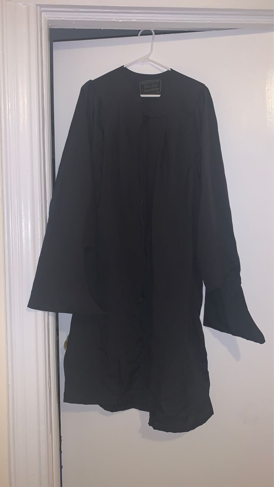 MASTERS graduation Gown, Solid black