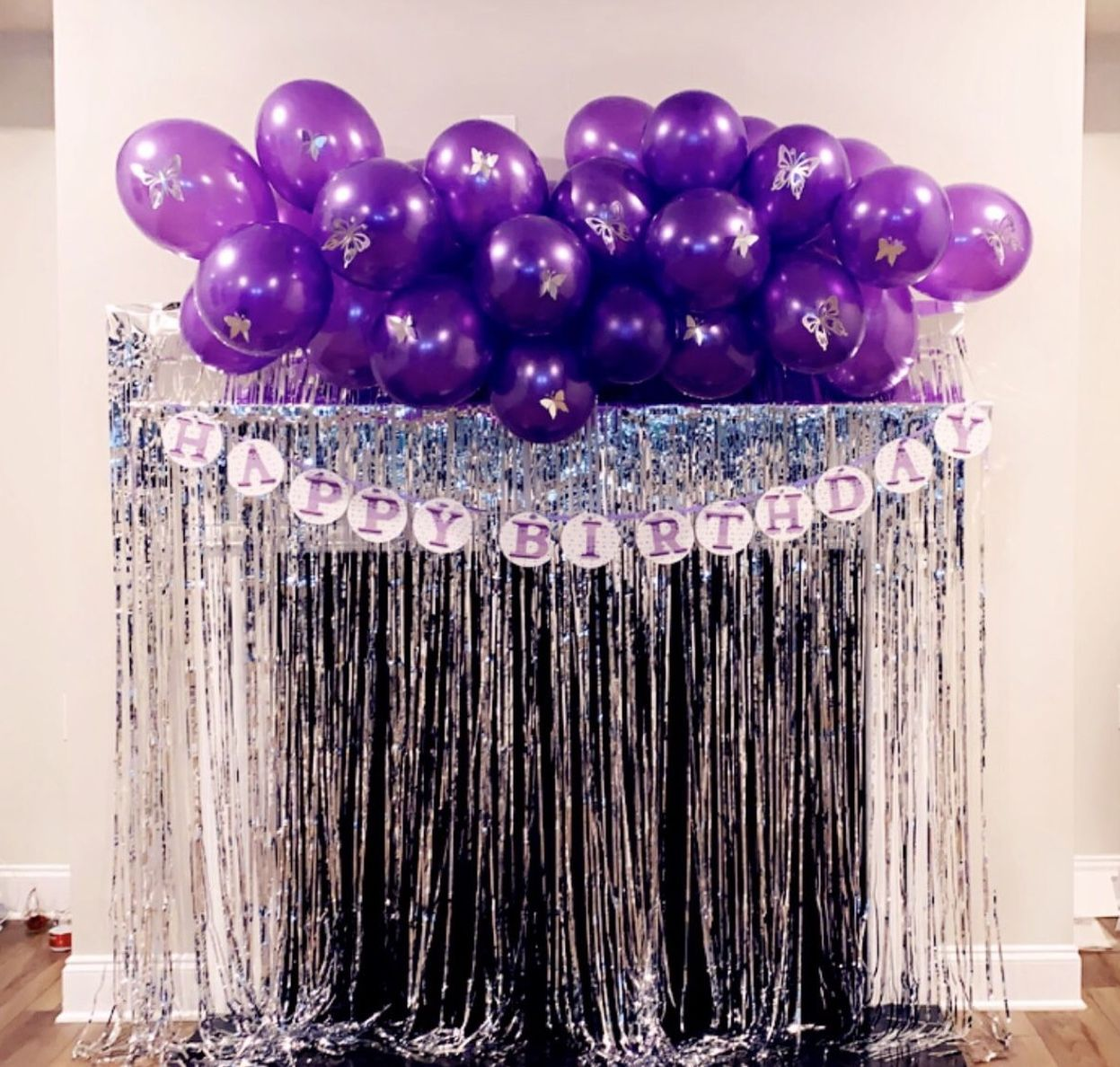 Purple Butterfly Decorations