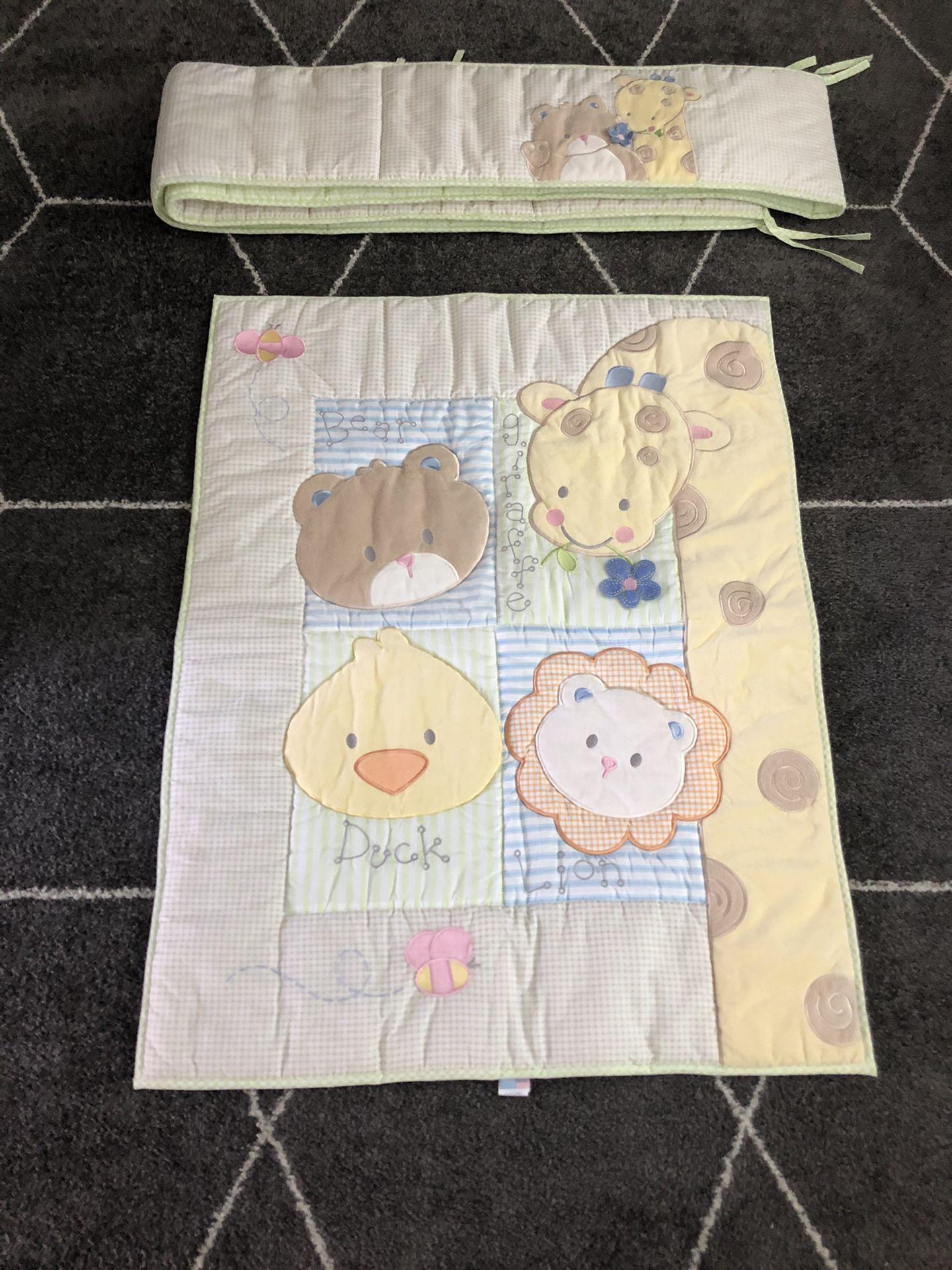Crib Bumper And Blanket