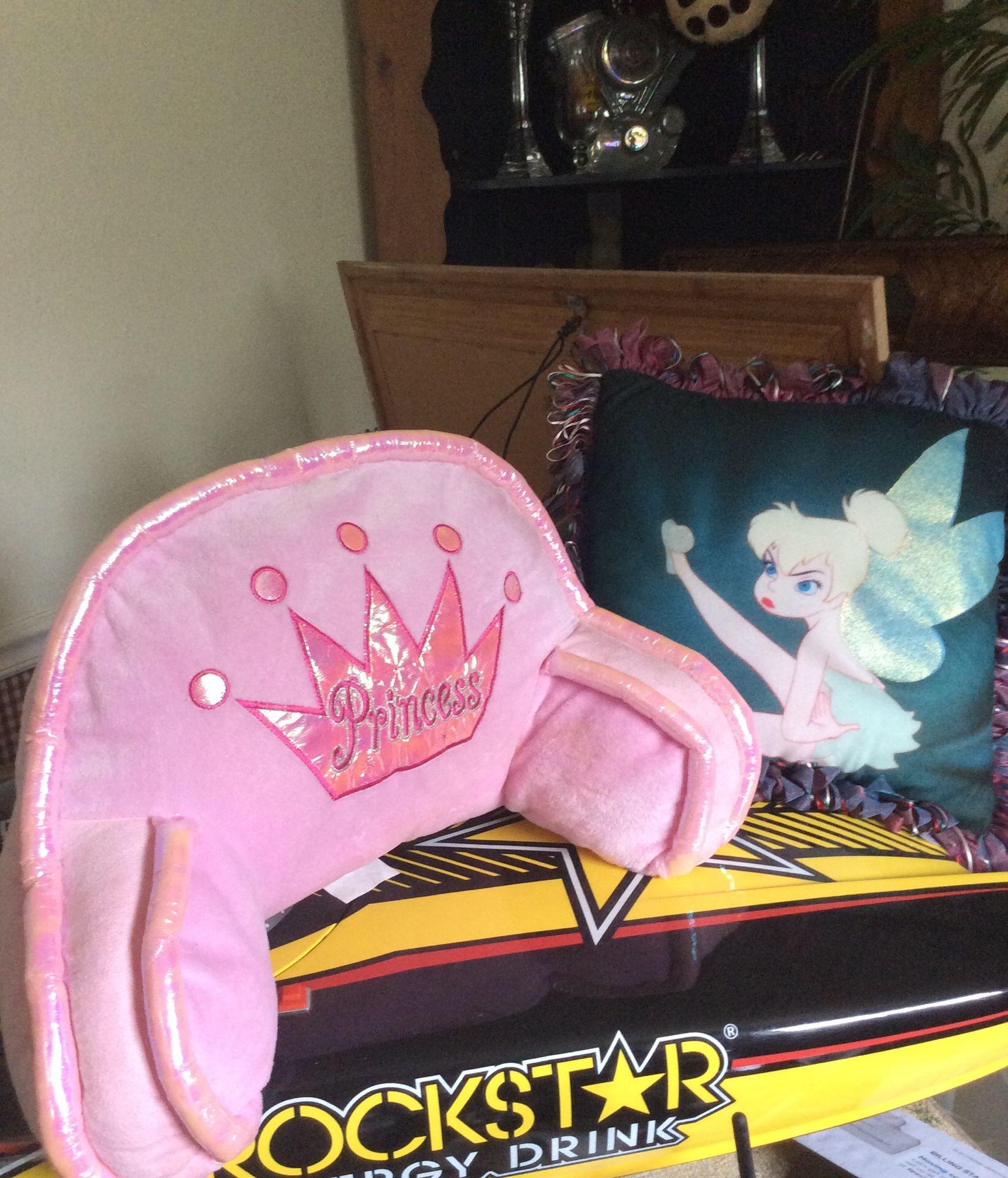 Princess and Tinkerbell pillows