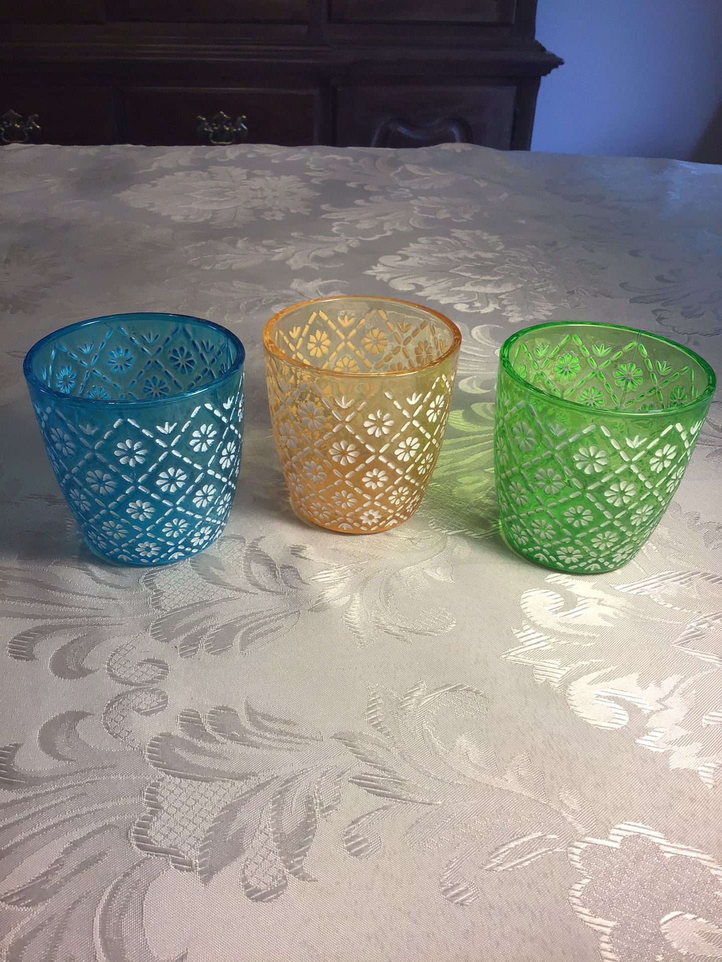 Large Cut Glass Votive Holders, Never Used