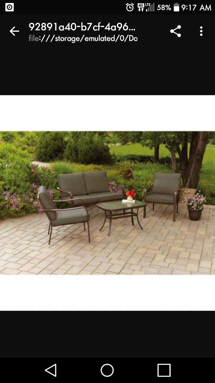 Looking to purchase a Patio Set for outside