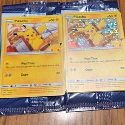Mcdonald's Pokemon Cards Pikachu Cards Thumbnail