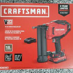 Craftsman Battery Powered 18 Gauge Brad Nailgun Thumbnail