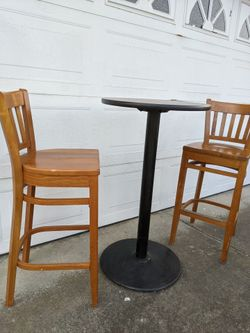 Bar Height Patio/Cafe/Restaurant Tables For 2 (2 Sets) Thumbnail