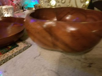 Wood bow, platter, and spoon rest Thumbnail