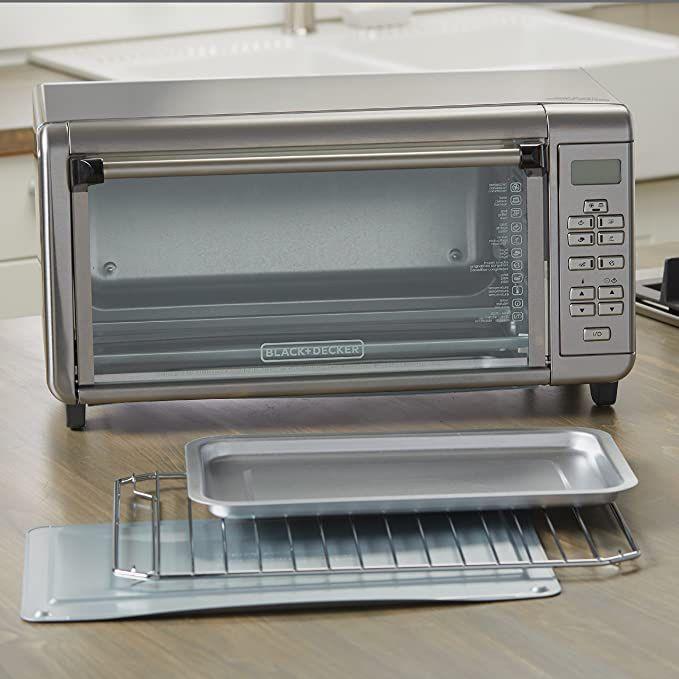 Black+Decker TO3290XSBD Toaster Oven, 8-Slice, Stainless Steel