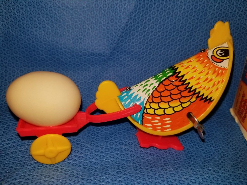 Vintage Happy Papa Rooster wind up toy