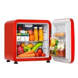 Costway 1.6 Cubic Feet Compact Refrigerator Reversible Door Mini Fridge Red Thumbnail