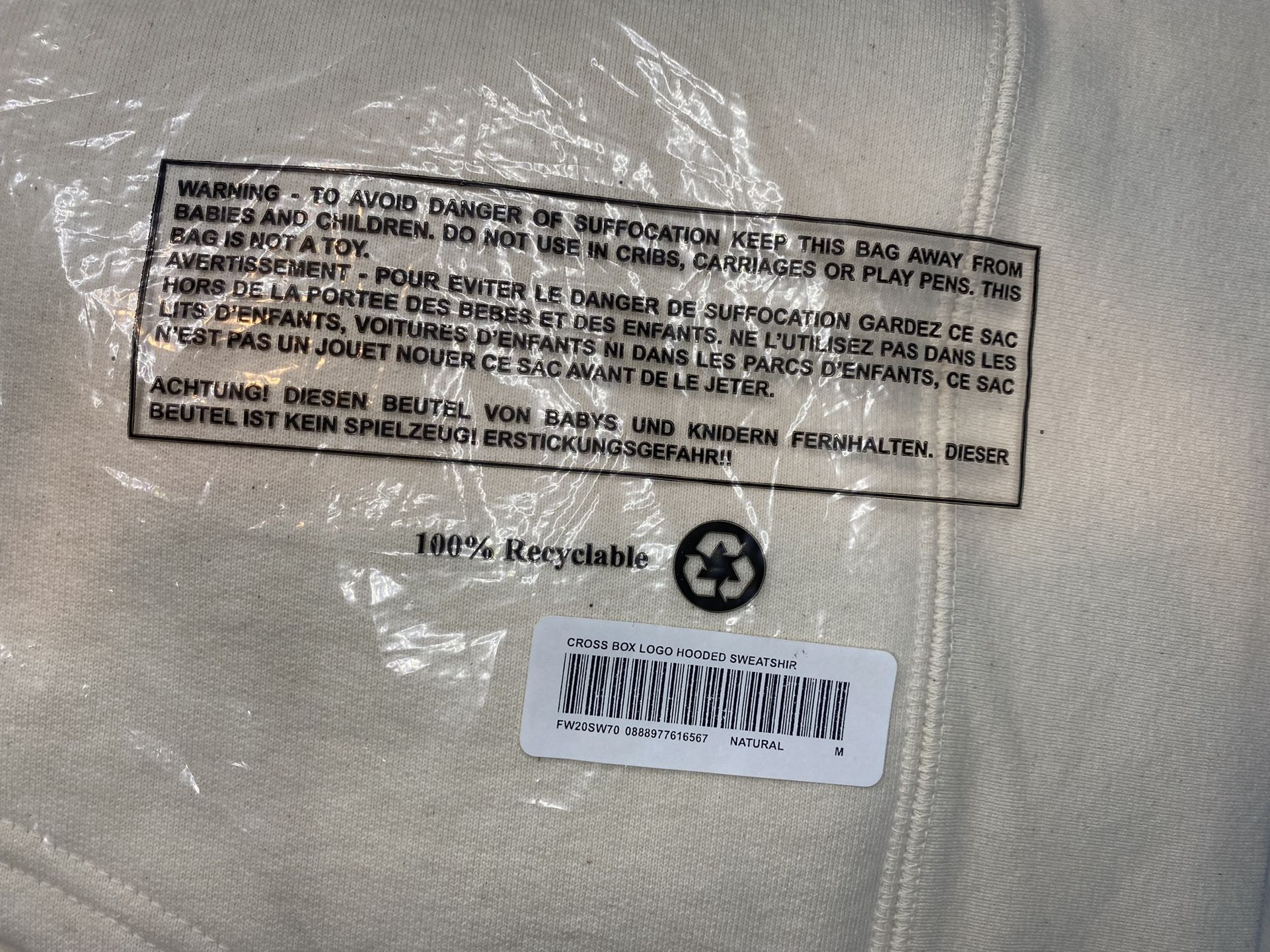 Supreme Cross Box Logo Hooded Sweatshirt Size Medium