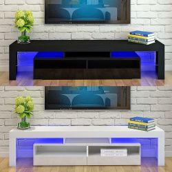 """Brand new 63"""" TV stand entertainment center wall unit with L.E.D lights Thumbnail"""