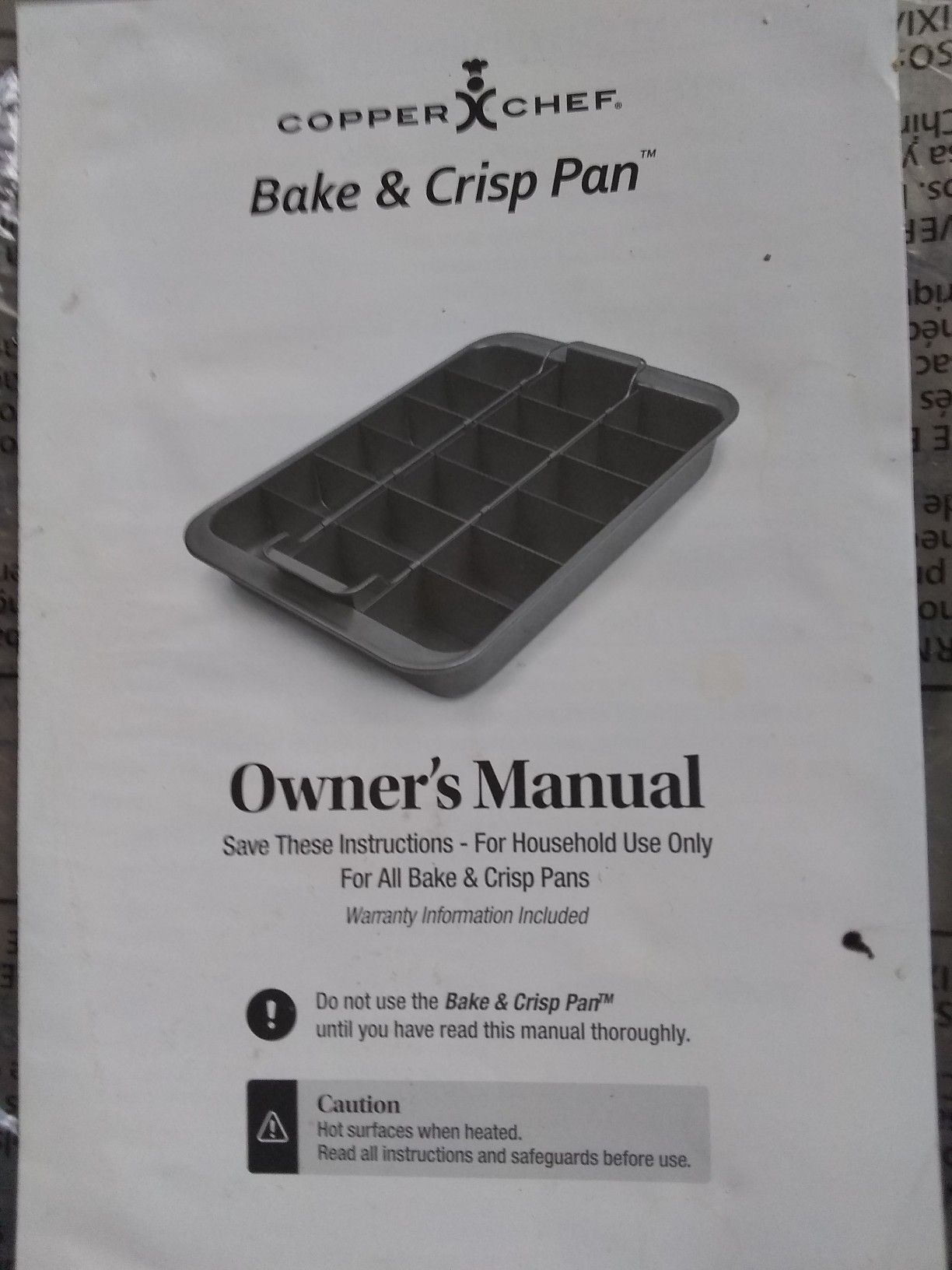 Copper chef bake and crisp pan