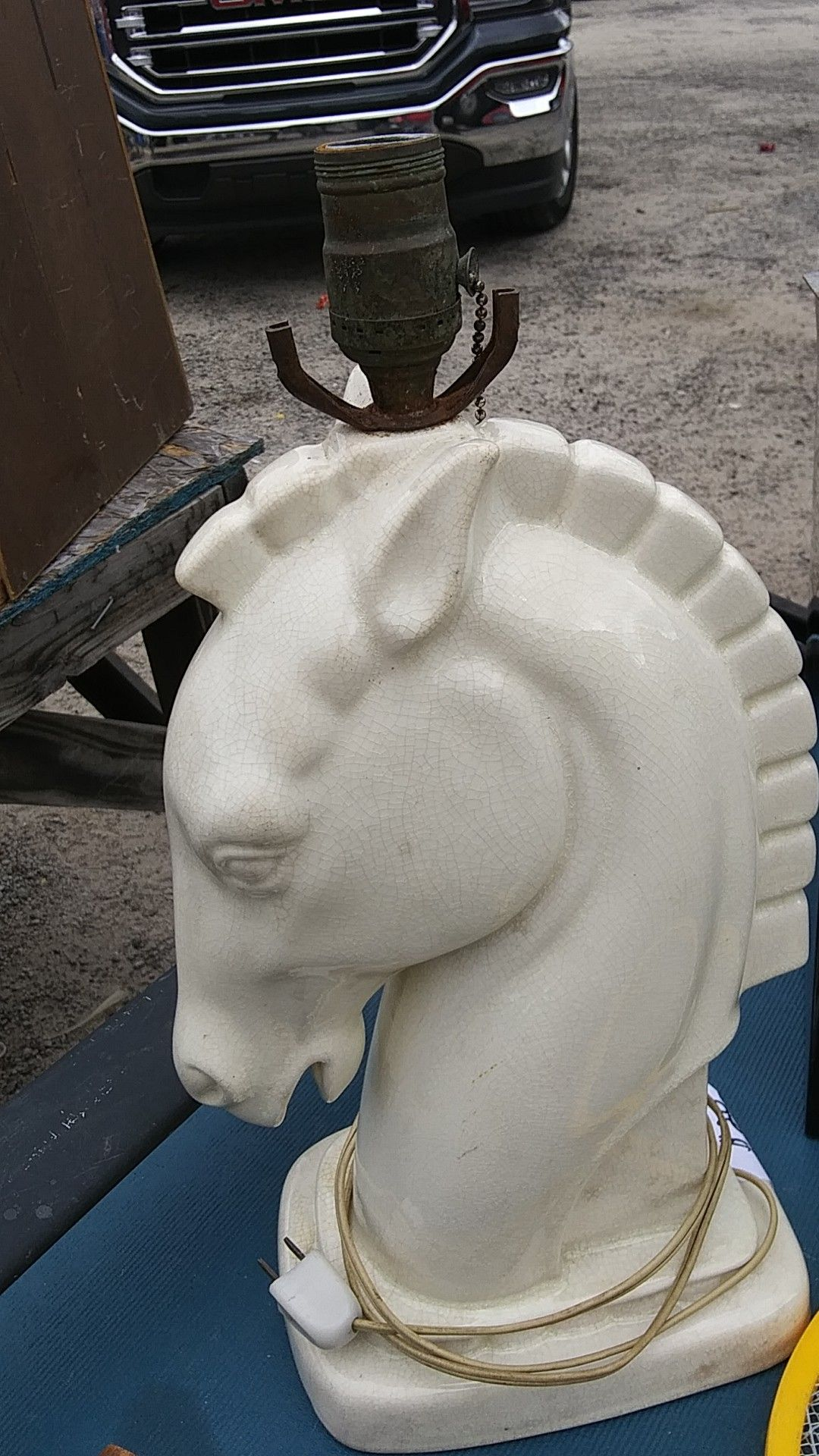Vintage horse lamp