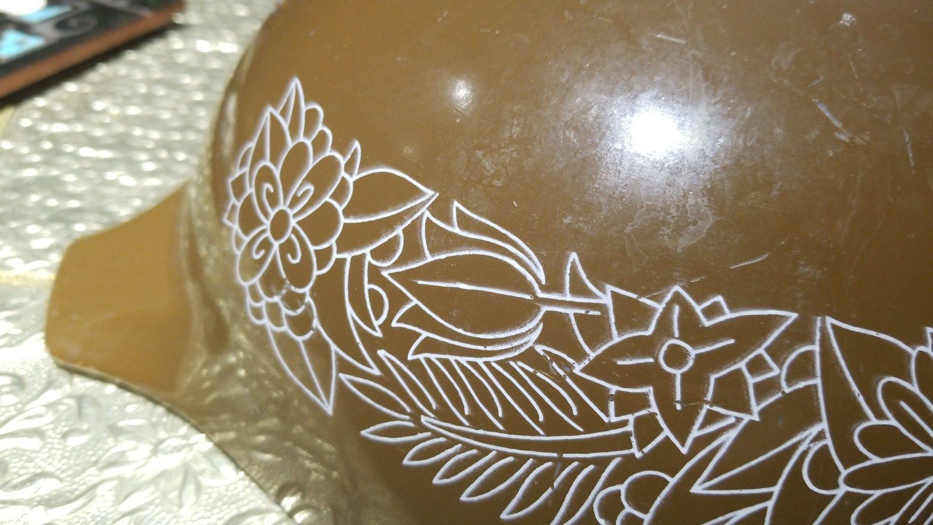 large brown vintage mint PYREX BOWL