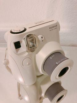 Fuji film Instax 7s white camera Thumbnail