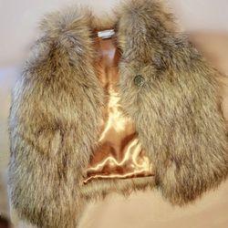 Faux Fur Vest. Size 5T OLD NAVY Thumbnail