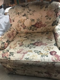 Chair and ottoman Thumbnail