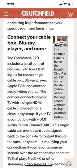 Bose Cinemate 120 Thumbnail