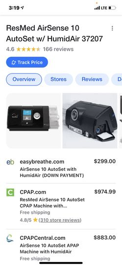 BRAND NEW Resmed 10 Airsense Auto Cpap Sleep Apnea Machine Ina Sealed Box. Thumbnail