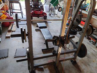 Bench Press + Weight Rack Thumbnail
