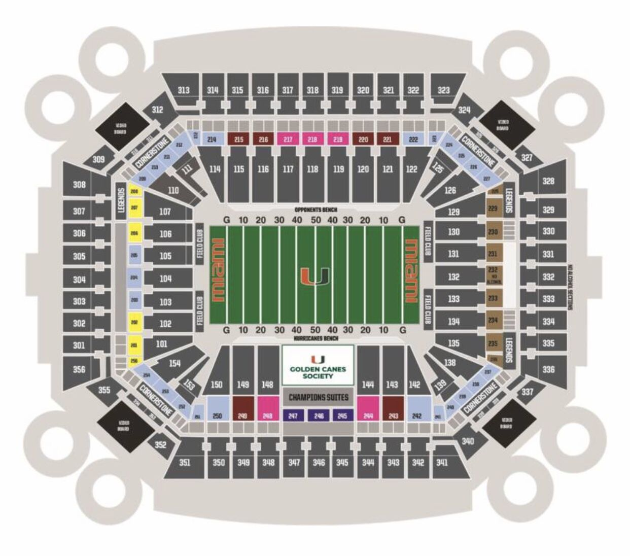 Two Club Level Tickets UM vs. Virginia 9/30 Section 208