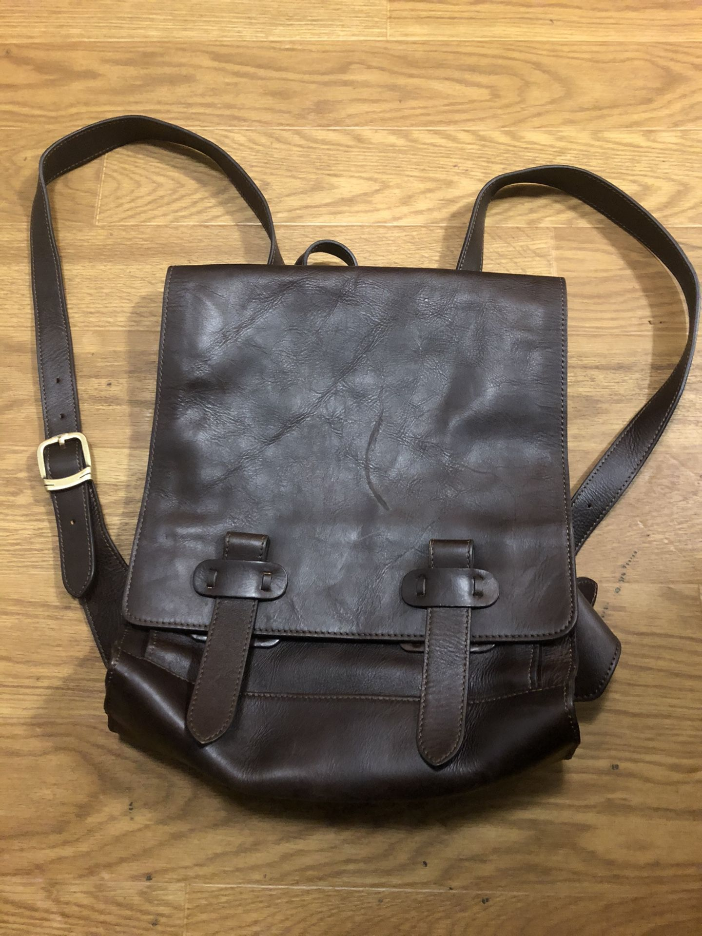The old angler genuine leather backpack