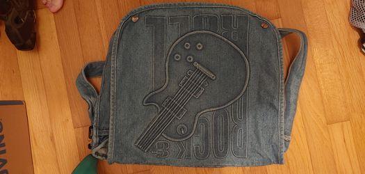 Jean Rock and Roll Messenger Bag Thumbnail