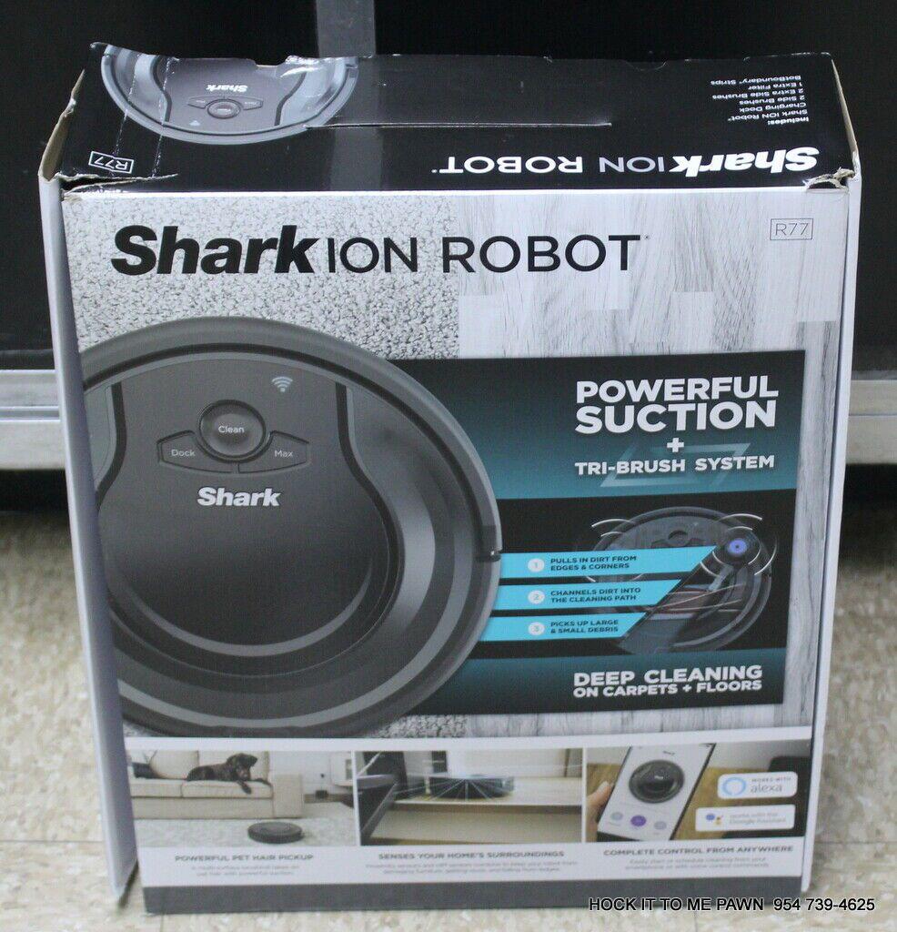 Shark ION Robot Vacuum R77 120min Runtime Wi-Fi BotBoundary NEW