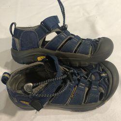 Keen Newport H2 Youth Kids Outdoor Waterproof Hiking Sandal Size 13 Navy Blue Thumbnail