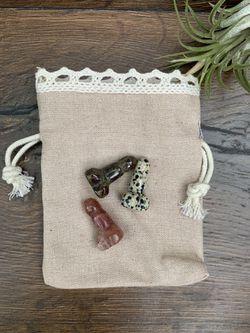 Pocket Peen Crystal Labradorite Rose Quartz White Elephant Baby Showe Thumbnail