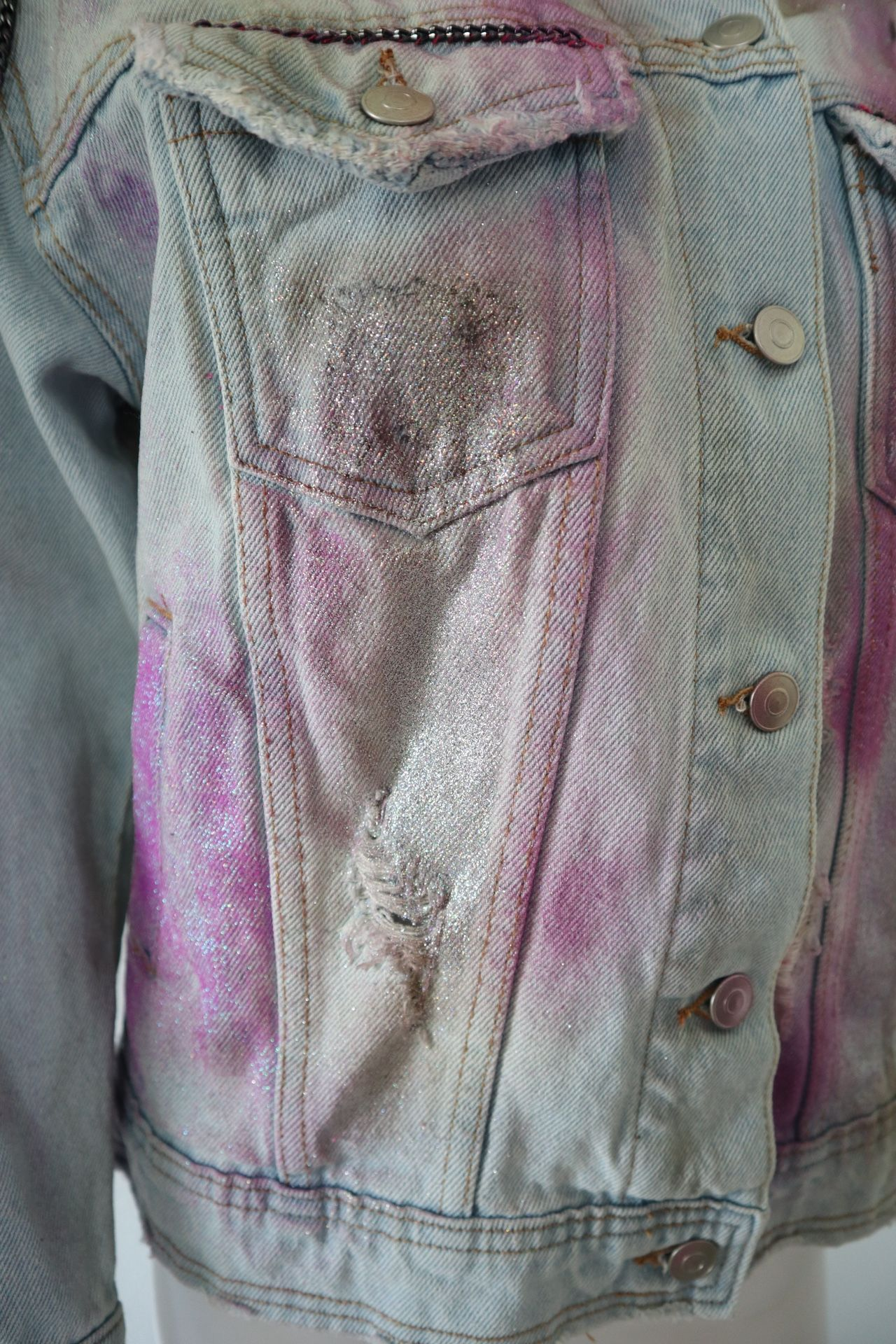 Mali-Boo Barbie Denim pink Custom jacket XS