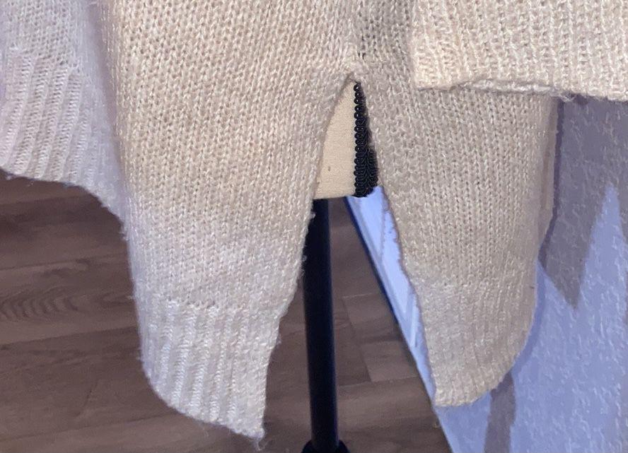 RD Style X Francesca's V Neck Poncho Sweater