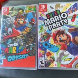 Mario Odyssey And Mario Party - Both Games Have Never Been Opened- Retails For $60 - Selling For $45 Each Thumbnail