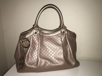 Authentic Gucci Sukey Rose Gold Tote Bag Like New Thumbnail