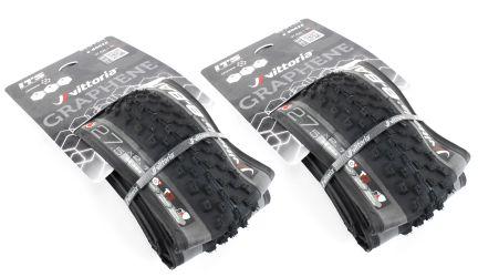 Pair of Vittoria E-Barzo G+ TNT 27.5 x 2.1 E-Bike Tire // Tubeless Folding Thumbnail