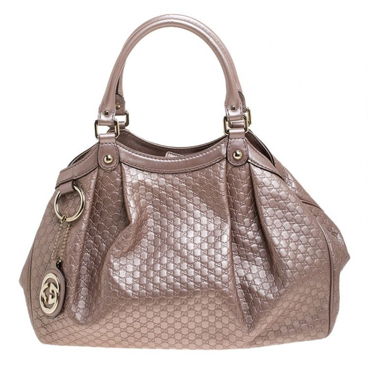 Authentic Gucci Sukey Rose Gold Tote Bag Like New
