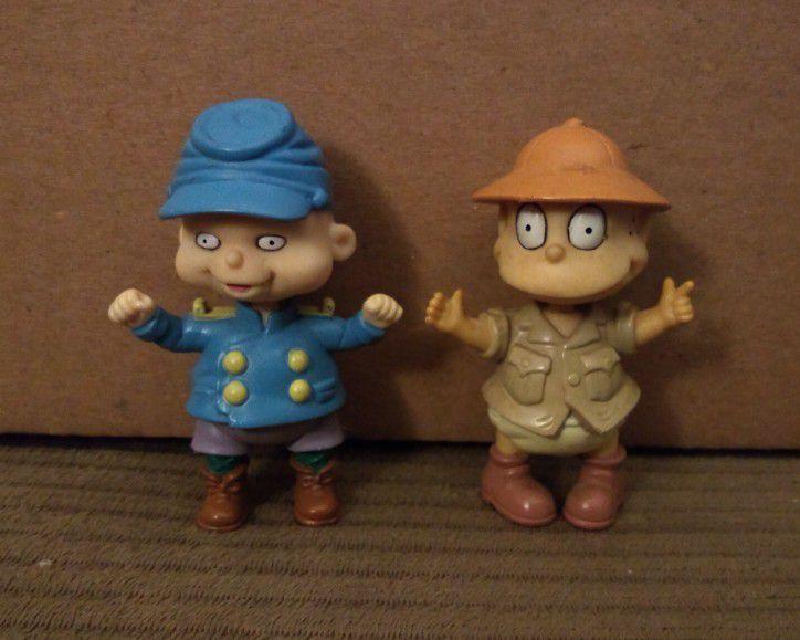 Rugrats PVC Toy Figure Lot 1998 Phil Safari  Tommy Mattel