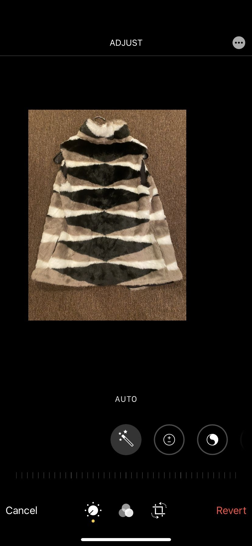 NIC+ZOE Women's Black/Taupe/White Zig-Zag Faux-Fur Vest M NWT $248