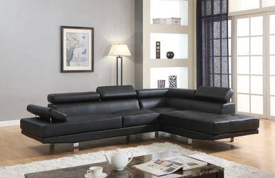 $39 DOWN Antares Black Modern Sectional Thumbnail