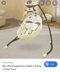Fisher-Price My Little Snugabunny Cradle 'n Swing with 6-Speeds Thumbnail