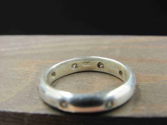 Size 5.5 Sterling Silver Cubic Zirconia Plain Band Ring Vintage Statement Engagement Wedding Promise Anniversary Bridal Cocktail Friendship Thumbnail