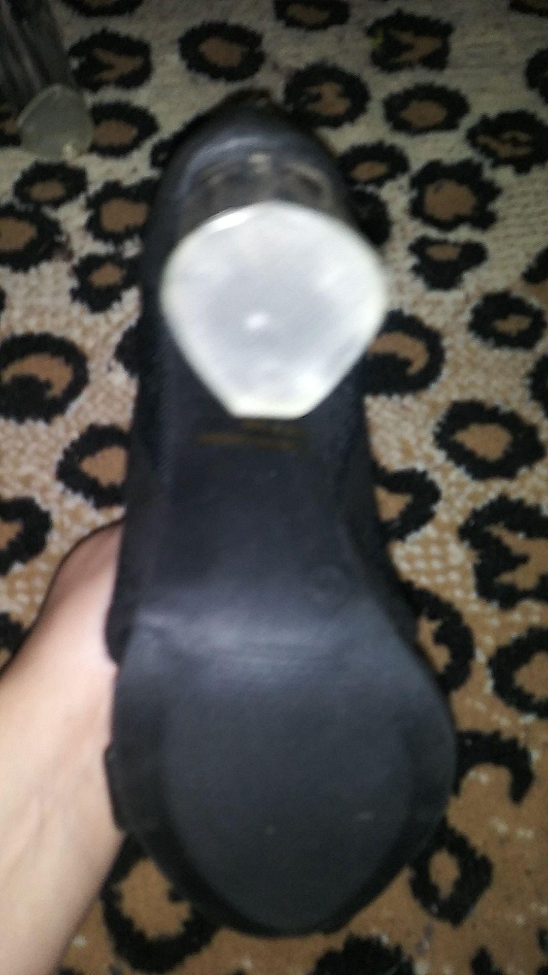 Open toe clear heel