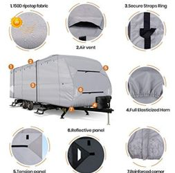 Windproof Upgraded 20' - 22' Travel Trailer RV Cover  Thumbnail