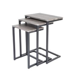 Zenvida Nesting Side/End Tables Set of 3 Modern Rustic Stacking Accent Furniture Thumbnail