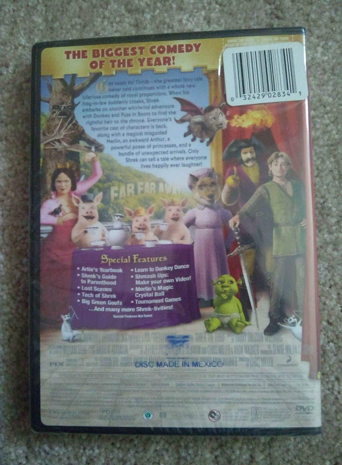 """SHREK THE THIRD DVD """"THE BIGGEST COMEDY OF THE YEAR!"""" NEW/ SEALED!"""
