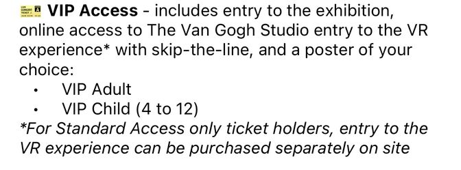 Van Gogh Immersive Experience - 2 VIP Tickets Saturday Oct 9 6:30pm Thumbnail