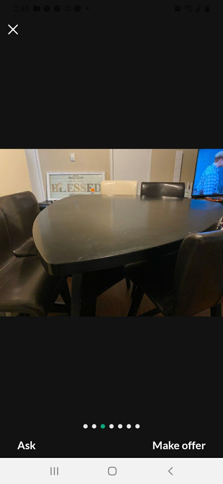Contemporary Dining Table With Chairs And Bench