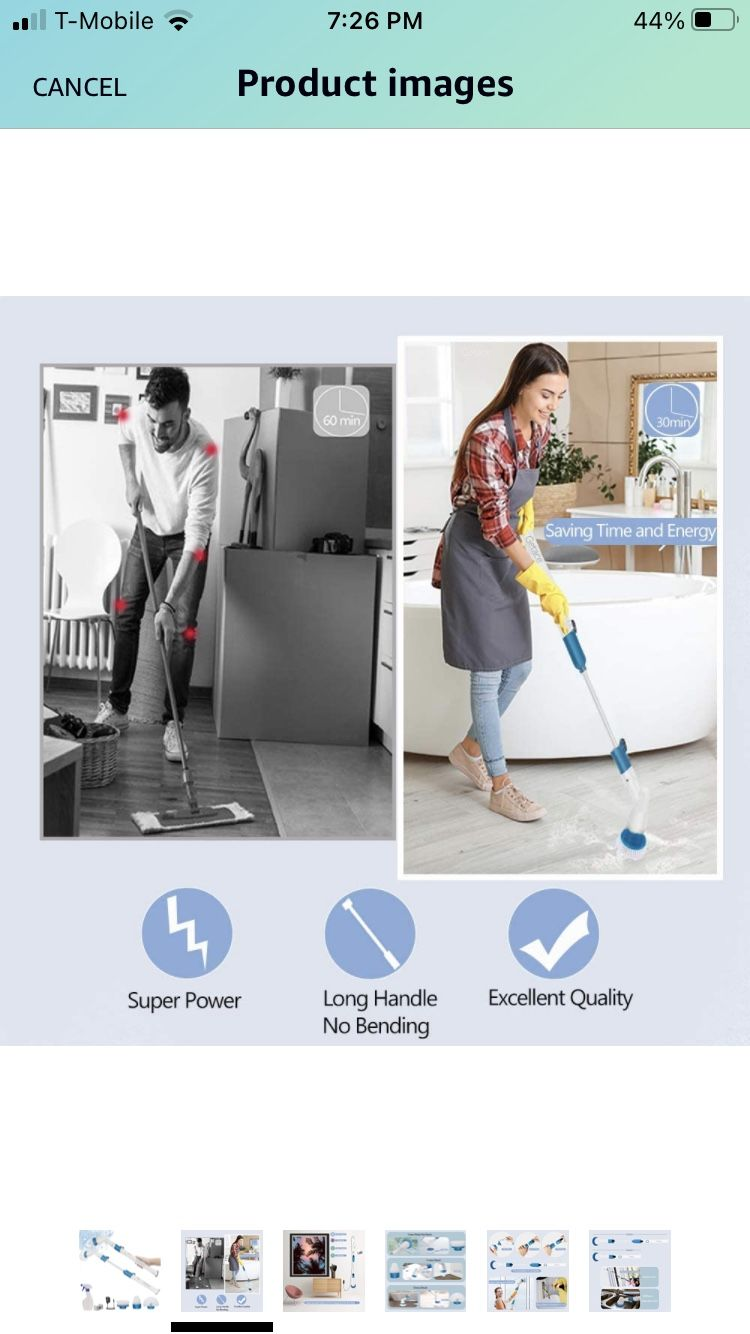 Getace Electric Spin Scrubber,360 Cordless Bathroom Scrubbers with 3 Replaceable Cleaning Shower Scrubber Brush Heads,Extension Handle for Tub,Tile, F