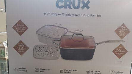 "CRUX 9.5"" COPPER TITANIUM DEEP DISH PAN SET Thumbnail"