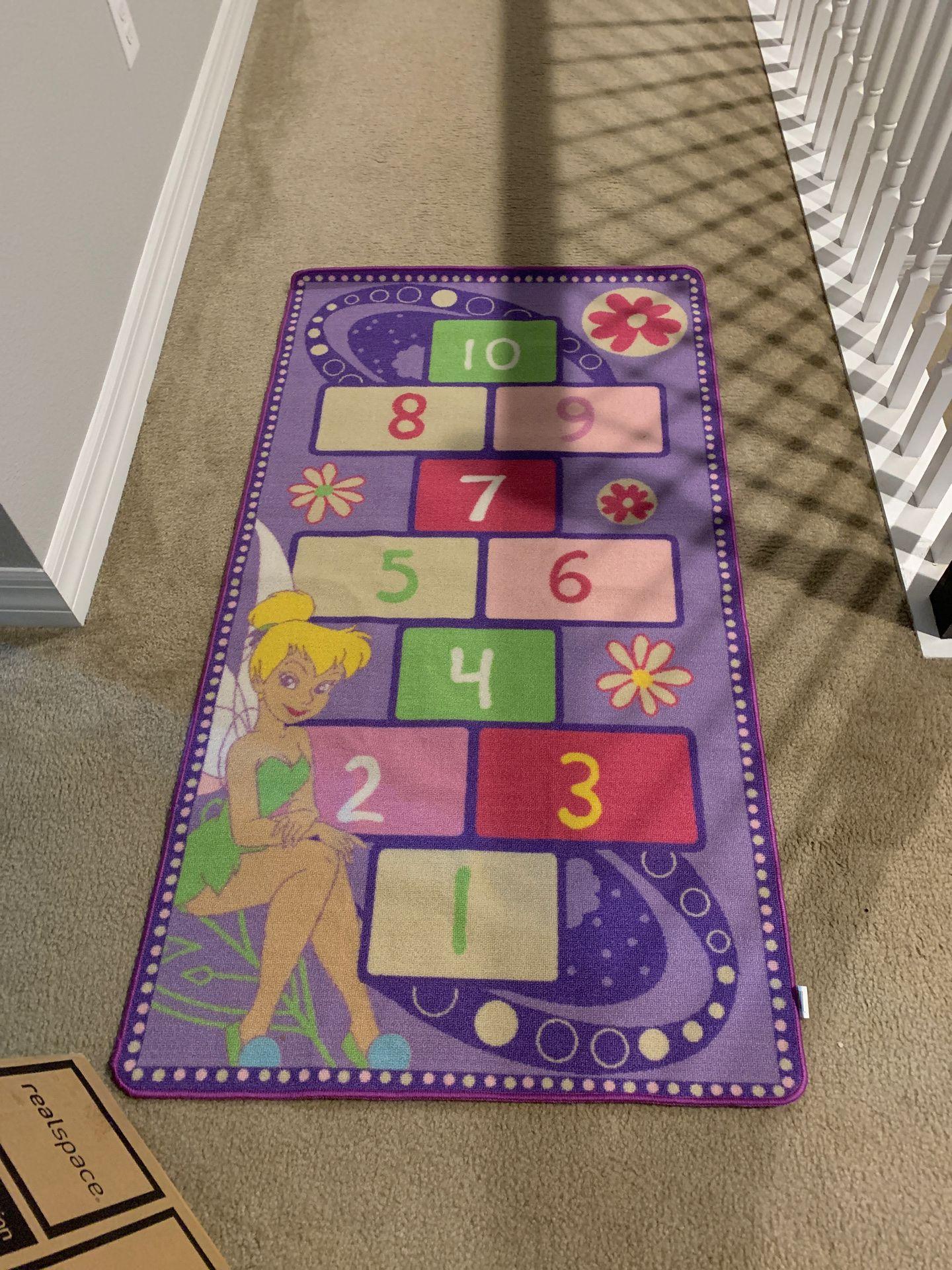 3x5 Tinkerbell hopscotch rug